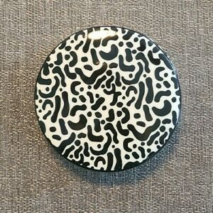 New Jonathan Adler Pottery Modern Leopard Box Black White Decoration