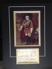 8th MARQUESS TWEEDDALE - ARMY OFFICER IN PENINSULAR & USA - SIGNED PHOTO DISPLAY