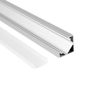 5x 1m LED Profil Aluprofil Alu Schiene Leiste Profile für LED-Streifen Eloxiert