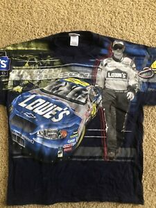 Jimmie Johnson Nascar RARE All Over Print T-Shirt size XL Chase Authentics NWT