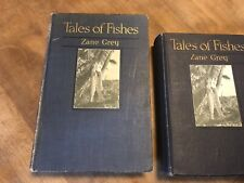 Zane Grey Tales of Fishes HB Book, 1919, Larger Size, Lighter Blue