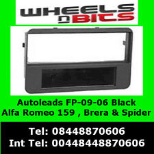 FP-09-06 ALFA ROMEO SPIDER 2006 Onwards Noir Panneau Avant Adaptateur Panel Surround Trim