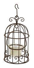 SHABBY COTTAGE CHIC METAL BIRD CAGE BIRDCAGE TEALIGHT TEA LIGHT LANTERN HOLDER