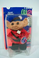 Rare WISHNIK UNEEDA Troll blue hair Park Ranger NOS New Box