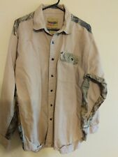 Wrangler Pro Gear tan/camo heavy sleeve hunting/camping shirt size XL