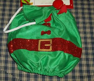Simply Dog Christmas Holiday Time Pet Outfit ELF with Matching Hat XS/S NEW