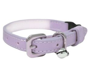 Luxury Pastel Lilac Vegan Leather | Breakaway | Adjustable Cat | Kitten Collar