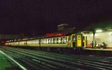 PHOTO  4 CIG AT REDHILL RAILWAY STATION. NIGHT SHOT.   DOWN WORKING. 1750. 12.94