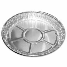 "20 x ROUND Aluminium Foil Dishes 6"" Steak Pie Quinche Disposable Baking Trays"