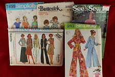 Lot of 5 Mixed Vintage Clothing Patterns