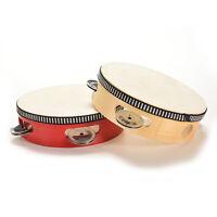 1xJuguete Musical de madera Percusión Sonajeros Tambor Clásico para niños