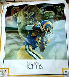 Vintage LA Rams Poster - EX Condition