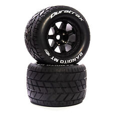 """Duratrax Bandito Mt Belt 3.8"""" Mounted Front/Rear Tires .5 Offset 17mm Black (2)"""