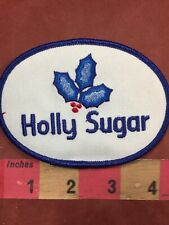 Vintage Oval Version HOLLY SUGAR Advertising Patch 92NF