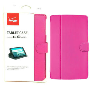 Verizon Durable Leather Hands Free Viewing Folio Case For LG G Pad X 8.3