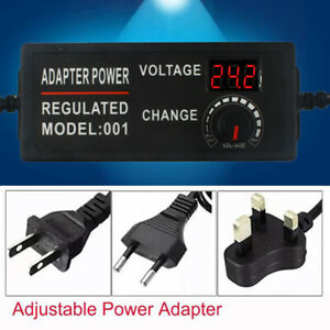 Adjustable Power Supply AC 100-220V to DC 3V-12V 5A CCTV Camera led strip light