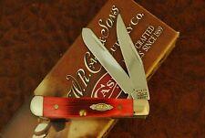 CASE XX USA TESTED RED BONE TINY TRAPPER KNIFE BARN BOARD 62154 SS 2010 (FZ38)