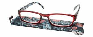 Calabria Kylie Rectangular Spring Hinge Designer Reading Glasses 50mm 60 OPTIONS