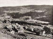 1924 Vintage SCANDINAVIA Photo Gravure Norway Halling Valley Log Cabin Landscape