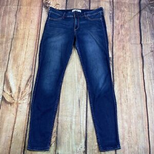 Hollister Skinny Jeans Women Size 9 Stretch Denim Jeans - Blue