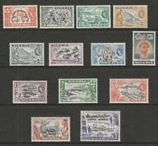 Nigeria 1953-58 Complete set SG 69-80 Mnh.