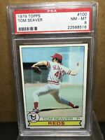 1979 Topps TOM SEAVER #100 PSA 8 NM-MT Cincinnati Reds HOF