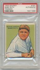 1933 Goudey Gum #181 Babe Ruth (HOF) PSA A Authentic New York Yankees SET BREAK
