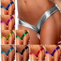 Sexy Women Wetlook Brazilian Bikini Bottom Thong Bathing Beach Swimwear G-string