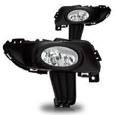 For 2003-2006 Mazda 3 4 Door Sedan Clear Lens Chrome Housing Fog Lights Lamps