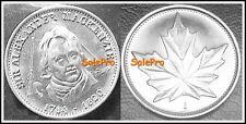 CANADA 1981 CANADIAN SIR ALEXANDER MacKENZIE MAPLE LEAF RARE TOKEN COIN UNC