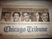 CHICAGO TRIBUNE NEWSPAPER NOVEMBER 16, 2008, OBAMA: A LIFE IN PHOTOS