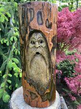 WOOD SPIRIT Chainsaw Carving SASSAFRAS WOOD Tree Spirit, Wizard Folk Art UNIQUE