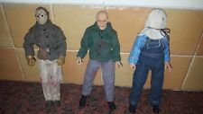 "FRIDAY THE 13TH NECA JASON VOORHEES SET OF THREE 8"" FIGURES"