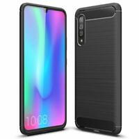 For Samsung Galaxy A90 5G Case Carbon Fibre Gel Cover Ultra Slim Shockproof