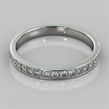 0.50 Cts Round Brilliant Cut Pave Diamonds Band Ring In Solid Certified 14K Gold