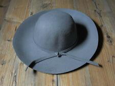 fc6dd24be37d99 Wollhut Hut Damenhut Fedora Grau mit Hutband Einheitsgröße Gr. 55-59cm