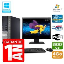 PC Dell 7010 SFF Intel I3-2120 RAM 4GB Disco 500gb DVD Wifi W7 Pantalla 22""