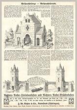 Reklame.Richters Anker-Steinbaukasten+Anker Brückenkasten. Orig.Holzstich v.1903