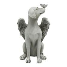 Cute Pet Statue Dog Decorative Grave Marker Tribute Figurine Garden Decor