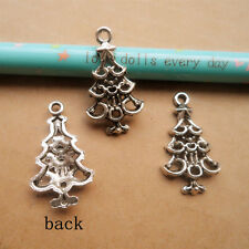 PJ203 20pcs Tibetan Silver Christmas tree Charm Beads Pendant Wholesale