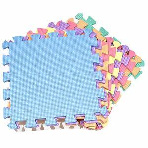 18 x Interlocking Foam Play Mats - Thick, Multi Colour Soft EVA Baby Floor Tiles