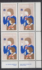 CANADA #1062 34¢ Canadian Girl Guides LR Plate Block MNH