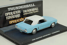 Película James Bond FORD MUSTANG Cabrio Convertible / THUNDERBALL 1:43 IXO