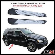Schwellerrohre Aluminium Trittbretter für Mercedes ML W163 1998-2005 Almond 173
