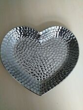 Heart shape ceremic candle plate heart hammerd finished candle wedding decore