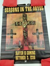 Vintage Slayer Seasons In The Abyss Record Store Promotional Poster 1990 Rare