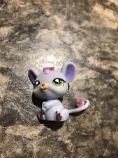 Littlest Pet Shop Lps Mouse # 1560 Rat Rodent Mauve Purple Green Dot Eyes