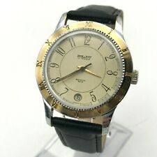 Russian POLJOT Mechanical Analog Watch Date Men's SERVICED Roman Arabic Numerals