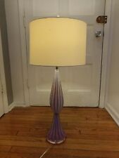 "Murano Archimede Seguso Lilac Opalino 36"" Mid-century Glass Lamp"