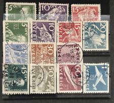 Sweden 1936 248-250, 251-257, 259-262 Used